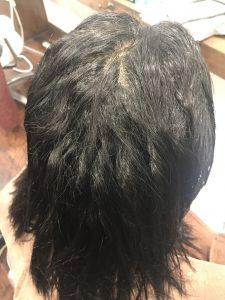 ノンアイロン 弱酸性縮毛矯正 エアーストレートのBEFOR